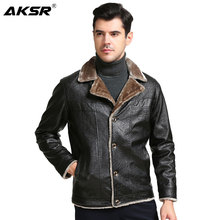AKSR New Fashion Men Autumn PU Leather Jacket Winter Mens Faux Jackets Jaqueta De Couro Coats