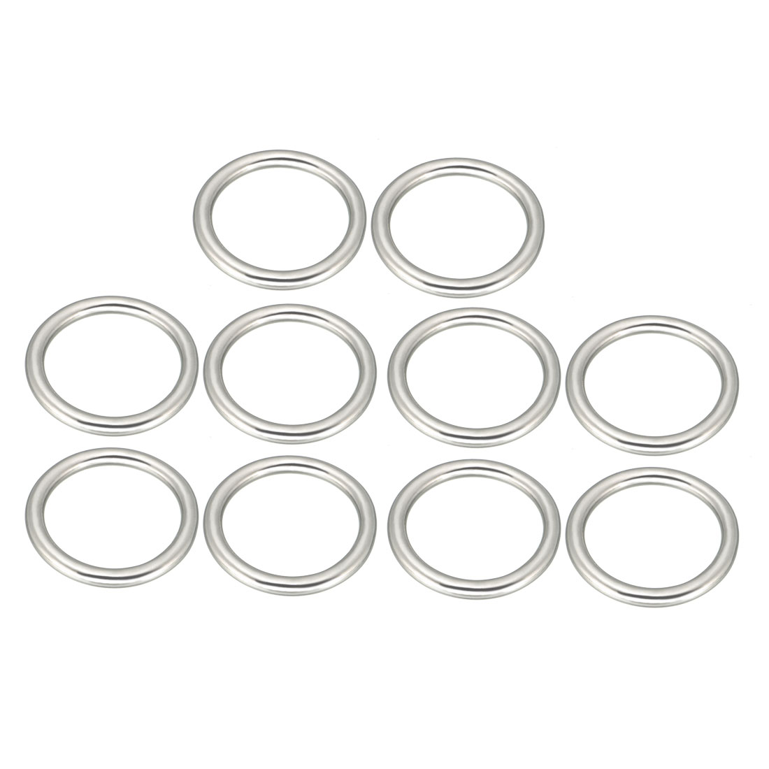 Uxcell 10 Pcs Multi-Purpose Metal O Ring Buckle Welded 26mm X 20mm X 3mm For Hardware Bags Ring Hand DIY Accessories