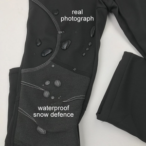 Image 4 - Мужские зимние теплые повседневные брюки, мужские черные толстые флисовые брюки, мужские мягкие брюки, мужские армейские военные водонепроницаемые брюки AM093