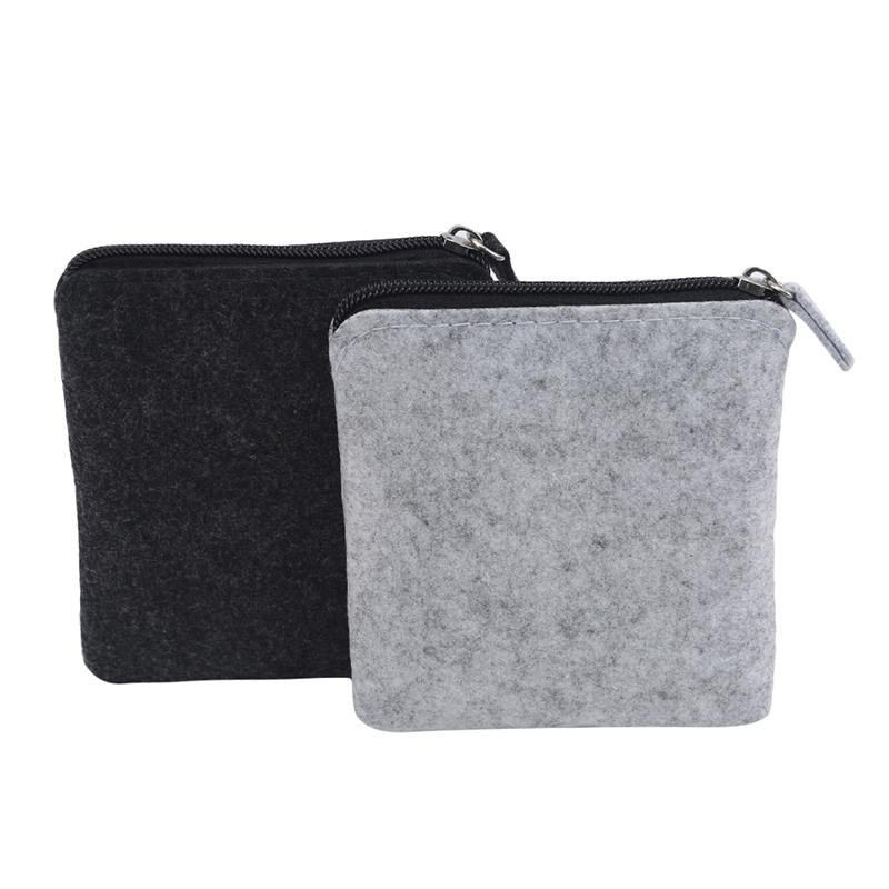 Felt Coin Purse Wallet Women Men Change Bag Credit Card ID Holder Coin Purses Wallets Womens Mens High Quality