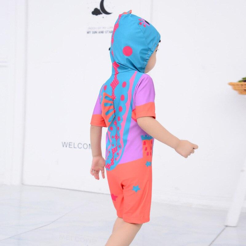 KID'S Swimwear Men And Women Children One-piece Children Short Sleeve Beach Quick-Dry Cartoon Cute Spa Resort Bathing Suit