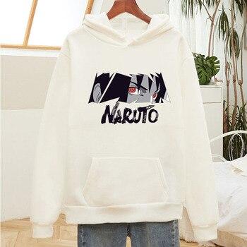 Womens Hoodies Unisex Naruto Harajuku Japan Anime Uchiha Itachi Printed Hoodie Couple Streetwear Fashion Casual Sweatshirt Coat