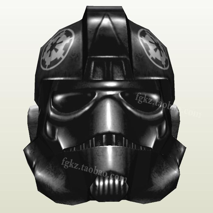 Paper Model Star Wars Tie Pilot Helmet 1:1 Can Wearable Casual Puzzle Decoration DIY Handmade Toy