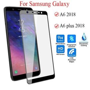 Image 2 - 9D Kính Cường Lực Dành Cho Samsung Galaxy Samsung Galaxy A6 2018 Kính Cường Lực Bảo Vệ Màn Hình Trong Cho Samsung A6 Plus 2018 A6 + Tặng 6 a6PLUS A600 Màng bảo vệ