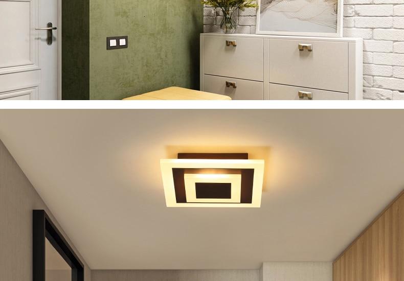 H44f2ee9f56ee4cb9858313ec9d113e1fj Modern ceiling lights 12w for hallway balcony corridor Coffe white light lamps bedroom luminaria teto acrylic lamparas de techo