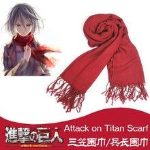 Japonês ataque em titan mikasa levi ackerman cachecol cosplay traje shingeki não kyojin vermelho/branco cachecóis traje de halloween novo