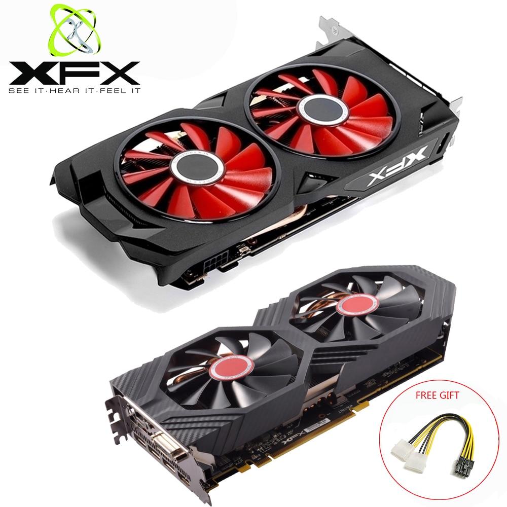 XFX AMD Radeon RX580 4GB DDR5 Video Card AMD GPU RX 580 4GB 256 Bit PC Gaming Graphics Card PC Gamer Used AMD Radeon Cards