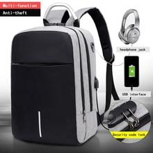 """OUBDARผู้ชายมัลติฟังก์ชั่ป้องกันการโจรกรรมกระเป๋าเป้สะพายหลัง15.6 """"นิ้วแล็ปท็อปUsbชาร์จกระเป๋าเป้สะพายหลังกระเป๋านักเรียนกระเป๋าเดินทางธุรกิจ"""