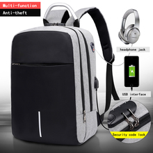"OUBDAR Men Multifunction Anti Theft Backpack 15.6"" Inch Laptop Usb Charging Backpacks Waterproof Schoolbag Business Travel Bags"