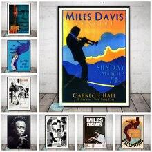 Miles davis arte poster jazz música estrela tipo de azul cartazes e impressões decoração da parede pintura em tela arte decoração da sua casa