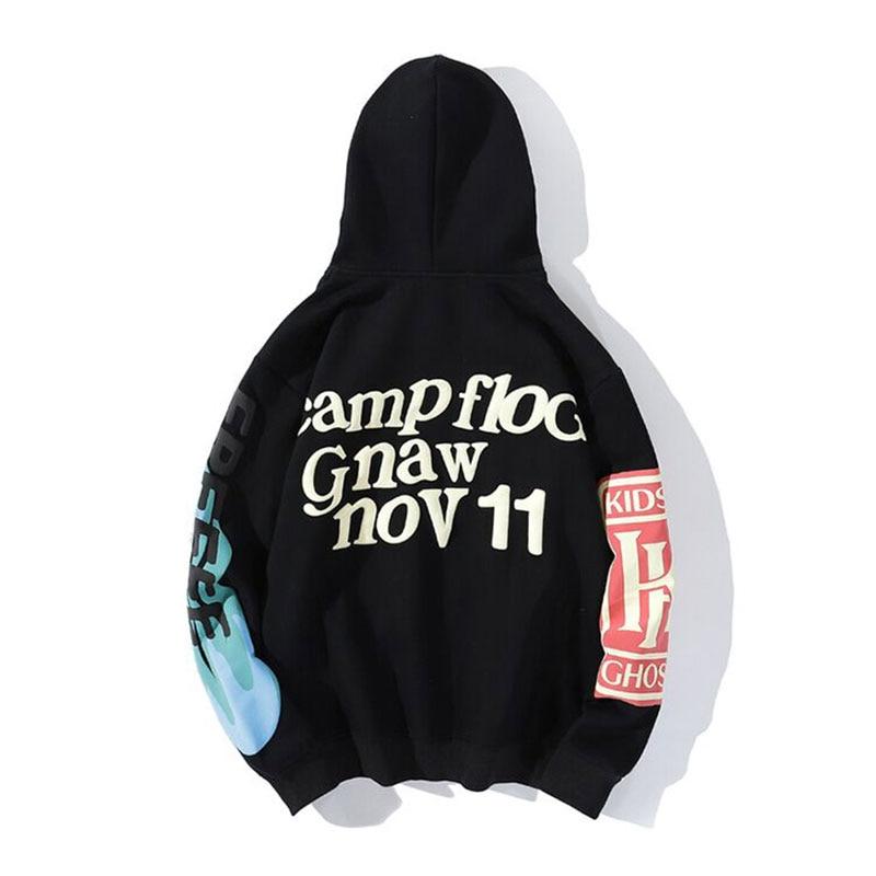 Autumn Hoodie Casual Hip Hop Graffiti Street Cotton Loose Fleece Hoodie Men Fashion Personality Print Hoodie Men Women Lucky Me 4