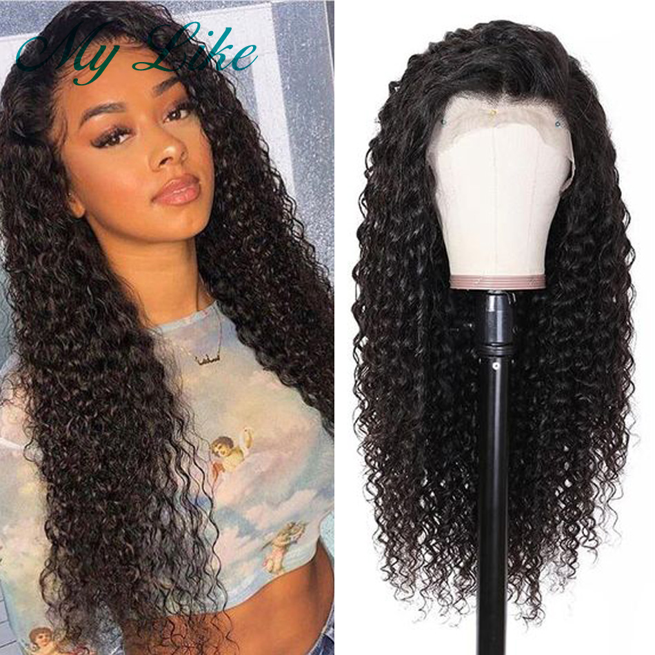 My Like Curly Lace Front Human Hair Wigs 13x4/6 Brazilian Kinky Curly Lace Frontal Wigs 100% Remy Hair Lace Wigs For Black Women