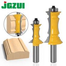 """Verstekhoeken Deur & Lade Molding 2 Bit 1/2 """"Shank 12mm schacht Lijn mes Houtbewerking cutter Tenon Cutter voor houtbewerking Gereedschap"""