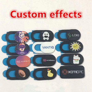 Image 5 - 100 1000pcs custom products Free print logo rectangle WebCam Cover Ultra Thin Shutter Slider Camera Lens Cover for Your logo
