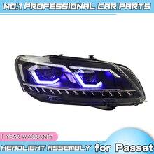 car accessories for VW Passat B7 US Verson Headlight For Passat B7 2012 2016 Headlight DRL D2H dynamic turn signal Hid Bi Xeno