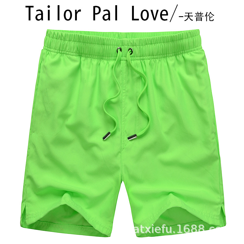 Days Pullen Solid Color Summer Beach Shorts Shorts Comfortable Sports Surfing Couples Shorts Men And Women Fashion Pants 1408 #