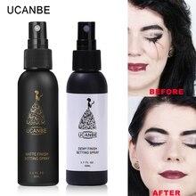 UCANBE marque 50ml maquillage réglage Spray hydratant longue durée fond de teint fixateur mat finition réglage Spray cosmétique naturel