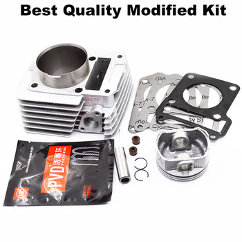 Motorcycle Cylinder Kit 57.4mm 65.5mm Big Bore For Yamaha YBR125  YBR 125 XTZ125 YB125Z XTZ Modified Engine