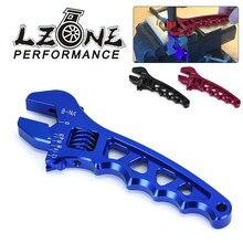 Lzone-ajustável um 3 4 6 8 10 12 ferramenta de montagem de mangueira de alumínio chave inglesa AN3-AN12 JR-SLW0601