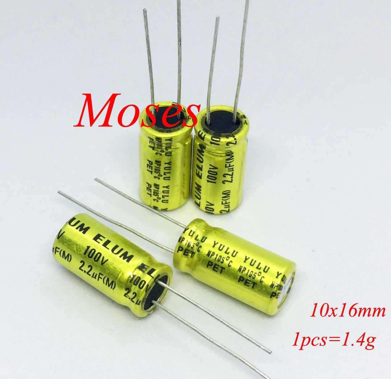 100V 2.2uF Electrolytic Radial Capacitors 105°C ±20/%  5mm x 11mm