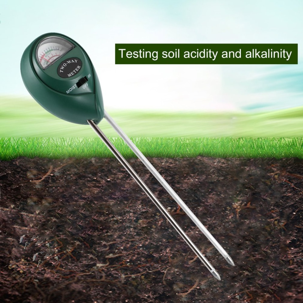 2 In 1 Soil Moisture PH Meter Soil Hygrometer Durable Soil Tester Garden Moisture Soil PH Intensity Meter