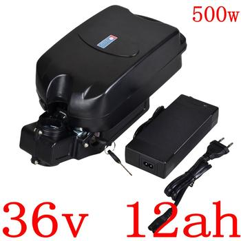 Rechargeable 500W 36V 12AH lithium battery Pack 36V 12AH 10Ah 8Ah  electric bike scooter Battery with 42V 2A charger free duty