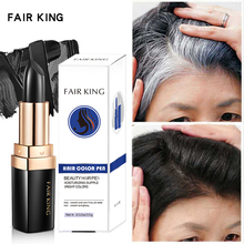 One-Time Hair dye Instant Gray Root Coverage Color Modify Cream Stick Temporary Cover Up White Colour Dye 3.8g