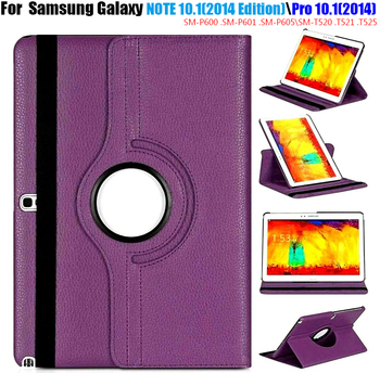 Sm P600 P601 P605 Roterende 360 Boek Cover Case Voor Samsung Galaxy Note 10.1 (2014 Edition) tab Pro 10.1 T520 T521 T525 Case