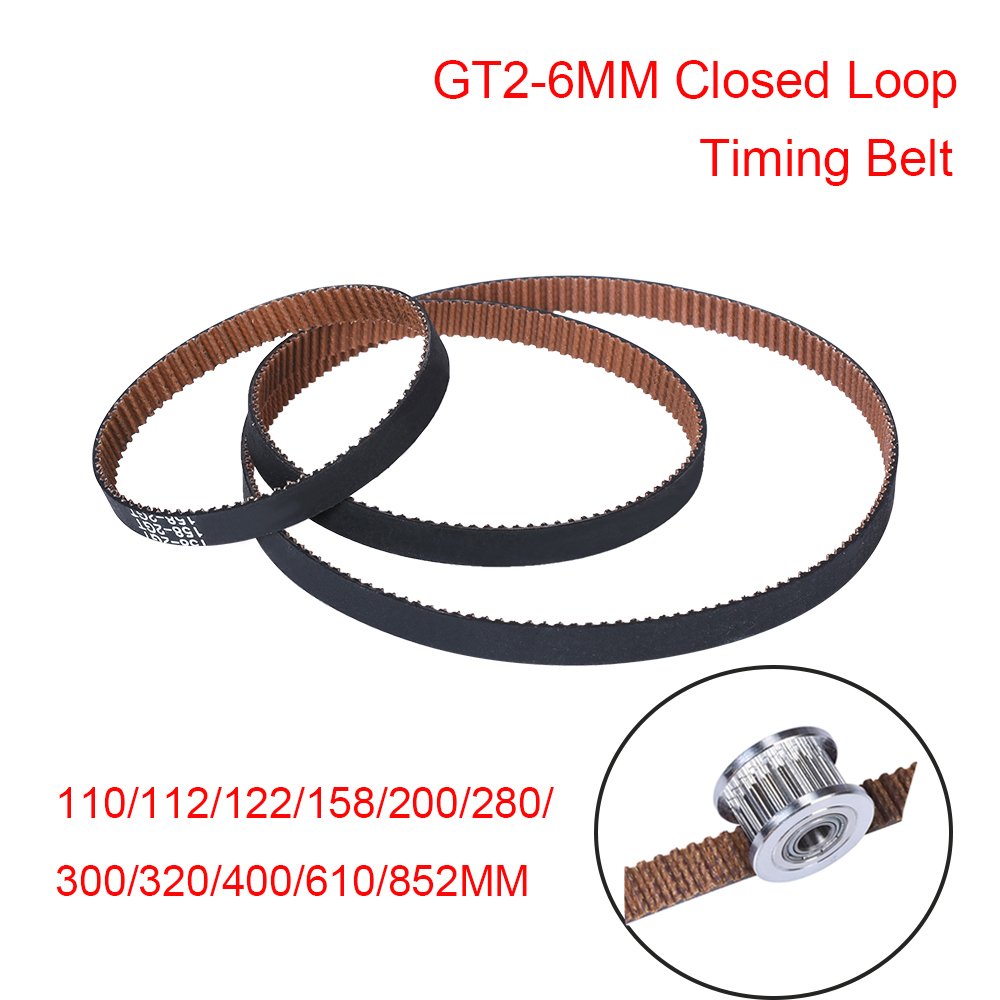 3D Printer Parts GT2-6MM Closed Loop Timing Belt GT2 Belt Rubber With Anti-Slip 2GT 6MM Synchronous Belt Reprap VS GATES-LL-2GT