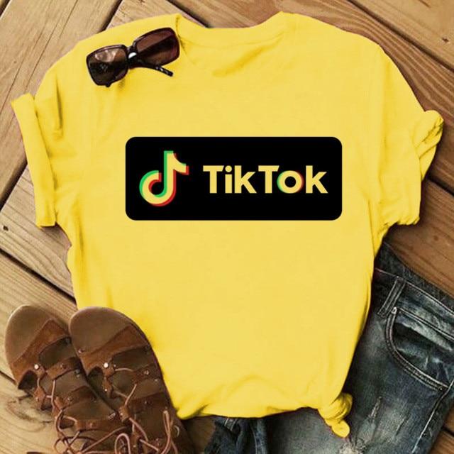 TicTok Tic Tok Logo Music App Unofficial Men Women Unisex T-shirt 2751