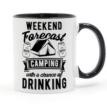 Camping Campfire Beer Alcohol Road Trip Coffee Mug Ceramic Cup Gifts 11oz road trip
