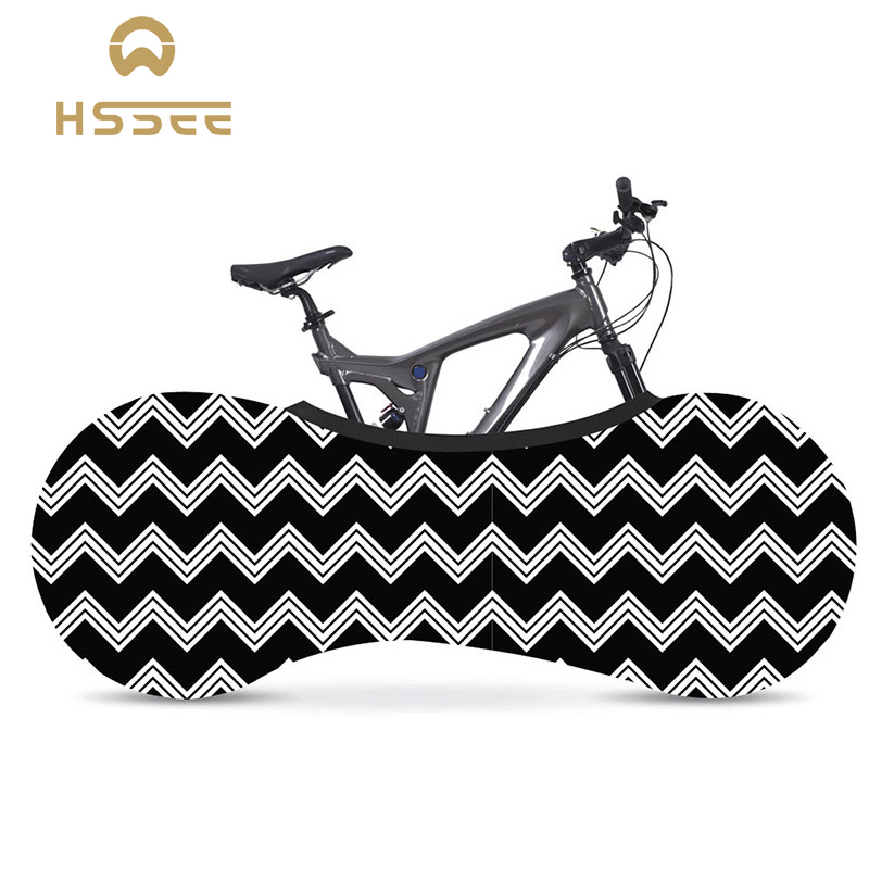 HSSEE Corrugated Series Bicycle Cover Official Authentic Environmental Protection Milk Silk Fabric Indoor Bike Tire Dust Cover
