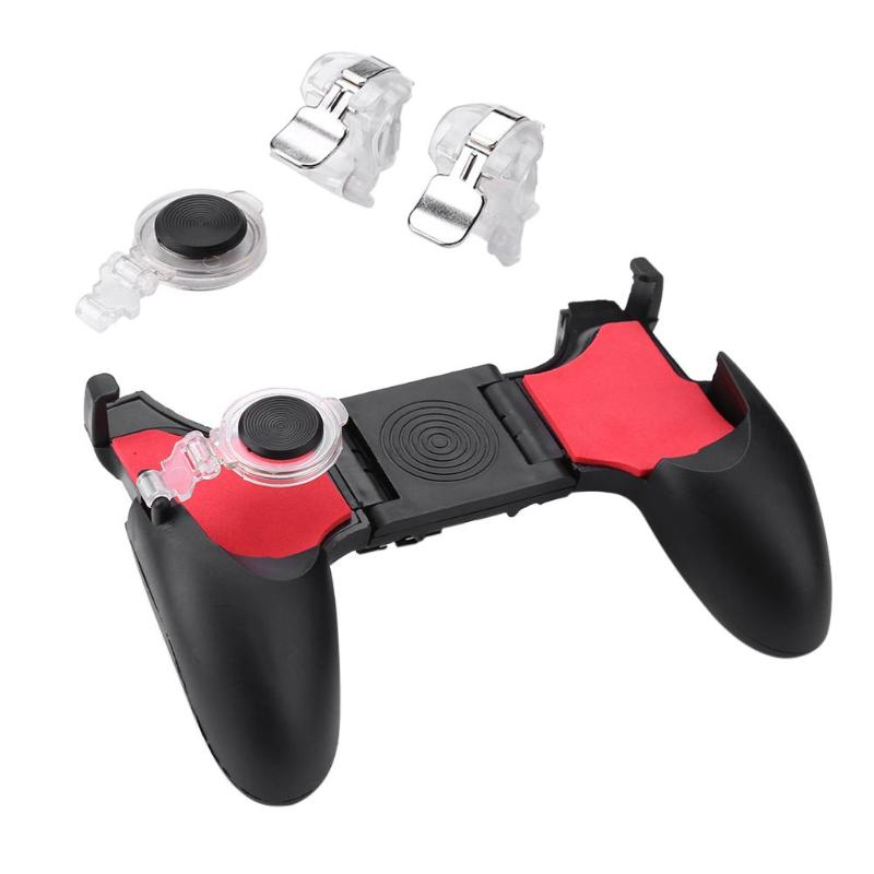 5 In 1 Phone Gamepad Controller L1 R1 Fire Shooter Buttons Handle Game Bracket Assister Mobile Joystick