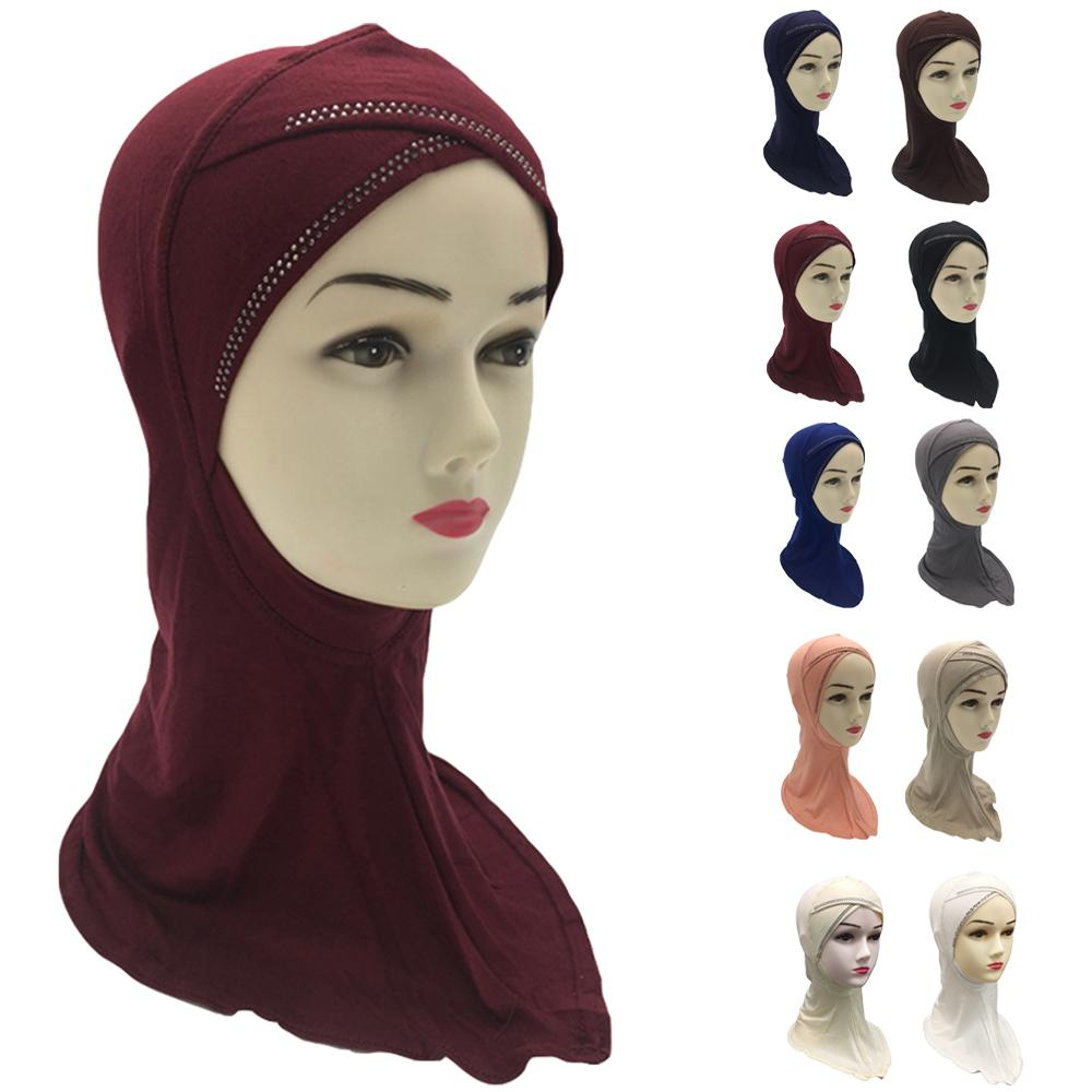 Muslim Women Ninja Under Scarf Neck Cover Cap Bonnet Hat Ladies Head Scarf Hijab Islamic Turban Headscarf Hair Loss Bandanas New