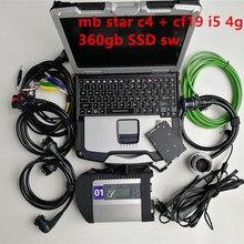 A++ Качество MB Star C4 SD Подключение с программным обеспечением-12 В SSD ноутбук CF19 работа для звездной диагностики c4 диагностический инструмент полный комплект