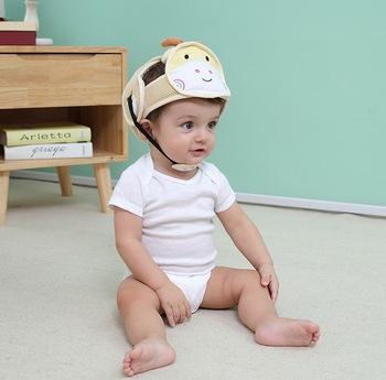 Czapki przeciwdeszczowe dla niemowląt czapki dla niemowląt czapki antykolizyjne odporne na pękanie czapki dla dzieci hełm ochronny czapki tanie i dobre opinie Unisex cotton CN (pochodzenie) W wieku 0-6m 7-12m 13-24m 25-36m Pojedyncze załadowany Zwierząt cartoon Baby Safety Helmet