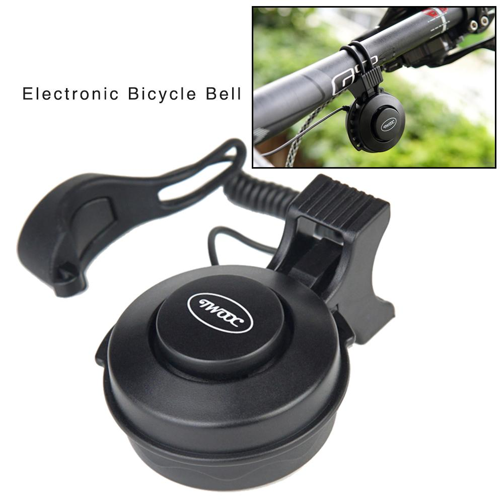 Electric Bike Horn USB Black Charging Electronic Bicycle Bell Riding Equipment Accessories Universal For Various Types Of Bikes