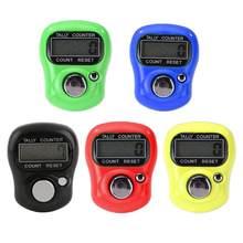 Mini Marcador de Ponto E Linha de Mão Dedo Dedo Tally Contador Eletrônico LCD Digital Contagem Gama 0-99999 de Costura Tricô ferramenta