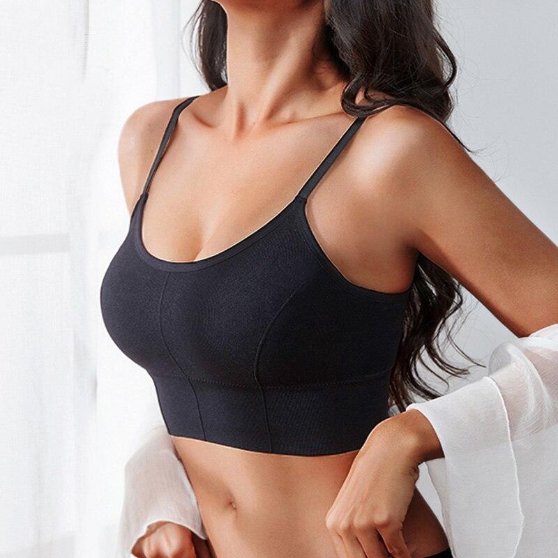 Frauen Tank Crop Top Sexy Weibliche Unterwäsche Nahtlose Crop Tops Dessous Femme Strap Einstellbar Leibchen Street Fashion Frau Top
