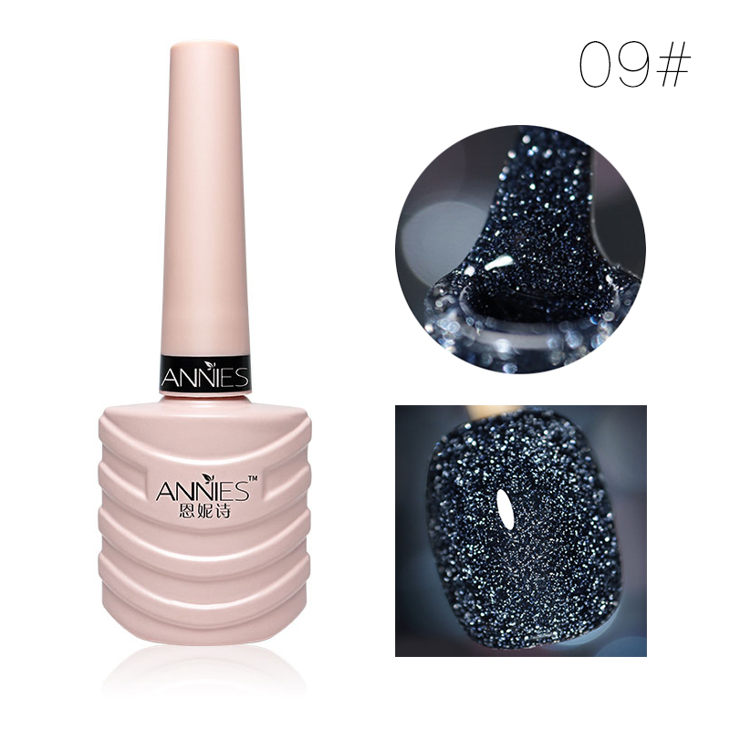 10ml Glitter Nail Gel Polish Nail Art Decoration Crystal Diamond Powder Gel Silver Nail Polish Soak Off UV Gel Polish TSLM2 11