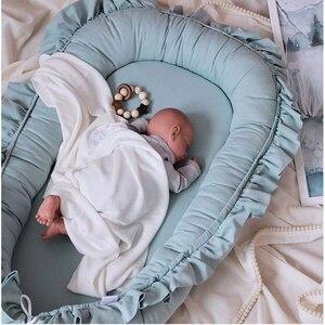 95*60 см детская кроватка-гнездо портативная Съемная моющаяся кроватка дорожная кровать для мальчиков и девочек детская хлопковая Колыбель
