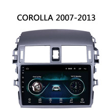"Car Radio For Toyota Corolla 2007 2008 2009 2010-2013 Multimedia system GPS Navi Android 8.1 9"" Carplay USB FM SWC DVR no 2 din(China)"