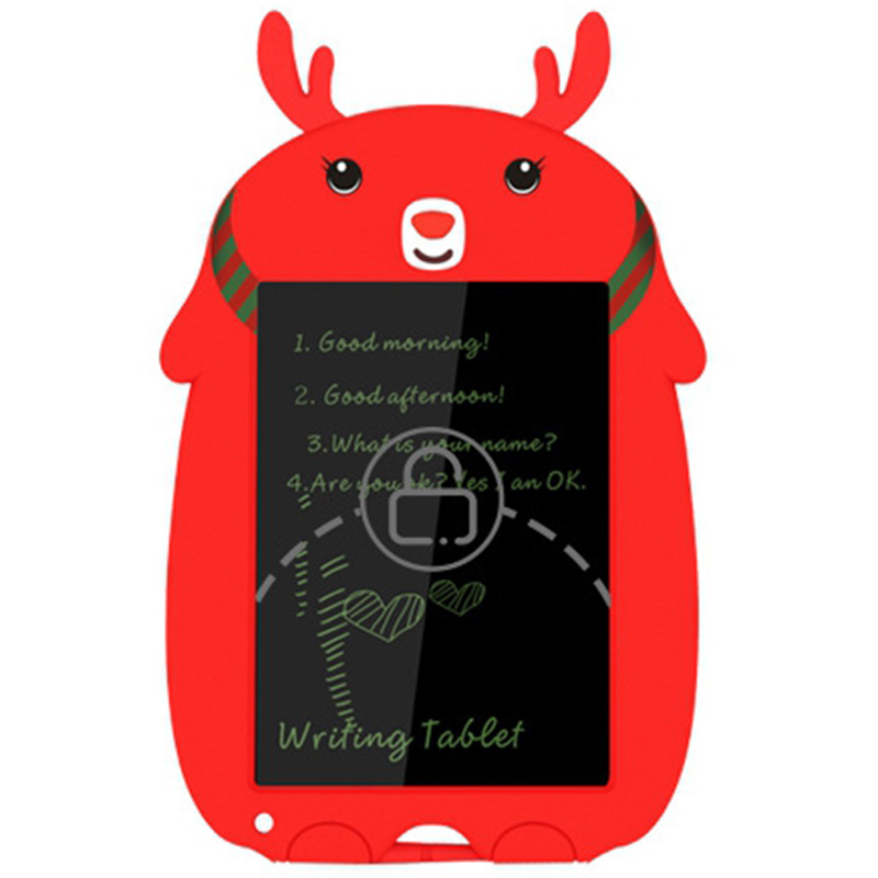 LCD Writing Tablet for Kids Toys for 3-12 Years Kids,Drawing Tablet for Children Writing Board with Lock Erase Button,Red image