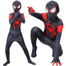Dzieci maska Spider-Man przebranie na karnawał Peter Parker Zentai body garnitur Spider-man kombinezon dla dzieci dorosłych jednoczęściowe ubrania tanie tanio Hasbro Cosplay kostium CN (pochodzenie) Second edition Odzież obuwie cap Urządzeń peryferyjnych Zachodnia animiation