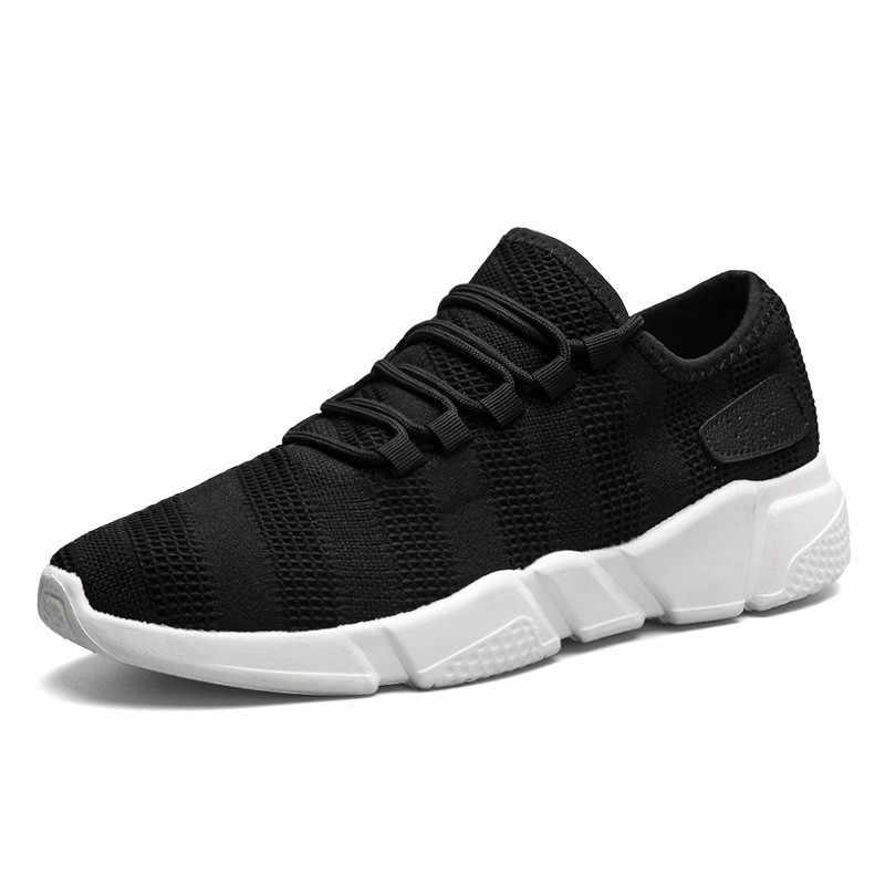 2019 ขายร้อนแฟชั่นผู้ชายกีฬารองเท้าผ้าใบสีดำสีขาวสีเทาสีขนาด 39-45 Youngs รองเท้าสบายๆฤดูร้อน Breathable light รองเท้า