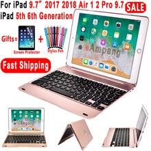 Топ Флип-клавиатура для Apple iPad 9,7 5-го 6-го поколения Bluetooth клавиатура чехол для iPad Air 1 2 5 6 Pro 9,7 чехол