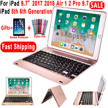Top Flip Keyboard for Apple iPad 9.7 2017 2018 5th 6th Generation Bluetooth Case Air 1 2 5 6 Pro Cover