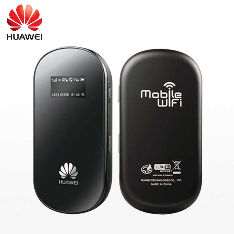 HUAWEI E587 desbloqueado 3G móvil enrutador portátil 43,2 Mpbs bolsillo WiFi inalámbrico Hotspot con ranura para tarjeta SIM mini inalámbrico