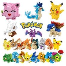 Bloques de construcción de Pokémon pequeños, 34 estilos nuevos, dibujos animados, Picachu, modelo Animal, juego educativo, gráficos, juguetes de Pokemon