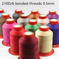 210D/6 высококачественные автомобильные нитки для шитья кожи ручной работы, аксессуары для вязания, прочные нитки